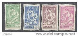 ALGERIE N° 205/08 X Série Du Général Catroux Au 1/4 De Cote Les 4 Valeurs  Trace De Charnière Sinon TB - Ungebraucht