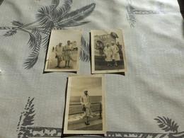 20/9 ,48 , Lot De 3 Photos, Ostende, Belgique, Sur La Plage Et Devant Un Navire, 1928 - Lieux