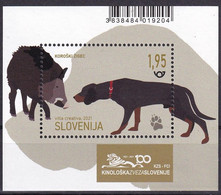 SLOVENIA,SLOWENIEN 2021,DOGS,WORKING DOGS,,KOROSKI ZIGEC,KINOLOGY,HUNTING DOG,BLOCK,MNH - Dogs