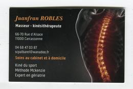 Carte De Visite °_ Carton-Masseur.Kiné-Juanfran-11 Carcassonne - Cartoncini Da Visita
