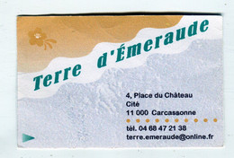 Carte De Visite °_ Carton-Terre D'Emeraude-11 Carcassonne - Visitekaartjes