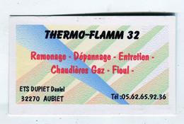 Carte De Visite °_ Carton-Thermo.Flamm 32-Aubiet - Visitekaartjes