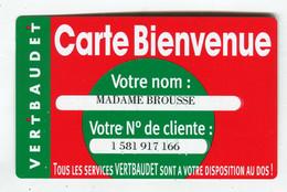 Carte De Visite °_ Carton-Vert Baudet-Carte Bienvenue-166 - Visitekaartjes