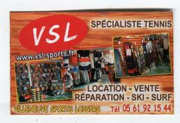 Carte De Visite °_ Carton-VSL-Spécialiste Tennis-31 Villeneuve.Tolosane - Visitekaartjes