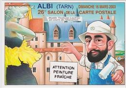 ALBI - 26è Salon De La Carte Postale (16 Mars 2003) - Dessin De B. VEYRI : Rénovation Du Musé Toulouse-Lautrec - Beursen Voor Verzamellars