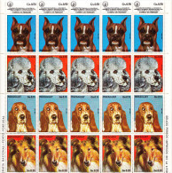 DOGS-PARAGUAY,COMPLETE SHEET , MNH - Dogs