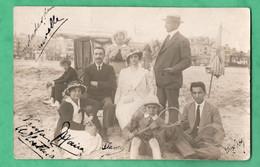 14 Calvados Trouville Plage Carte Photo Voyagée 25 Juillet 1914 - Trouville