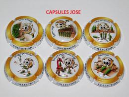 Série De 6 Capsules De Champagne GENERIQUE (P'tit Cap's) - Collezioni