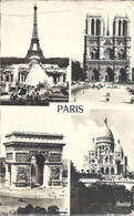 CPSM Paris Monuments Vues Multiples - Cartas Panorámicas