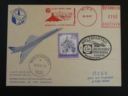 Carte Commemorative Card EMA Concorde Slogan Meter Lupo 1988 Autriche Ref 99415 - Concorde