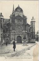 76  Eu  -     Chapelle Du College Et Statue Michel Anguier - Eu