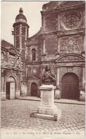76  Eu  -     Le College Et Statue Michel Anguier - Eu