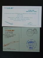 Entier Postal Stationery Premier Vol Concorde First Flight Amsterdam Paris 1986 Air France Ref 99416 - Concorde
