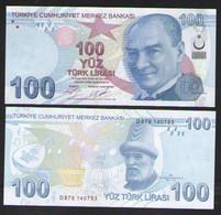ТУРЦИЯ 100 ЛИР   2020 UNC - Turkey