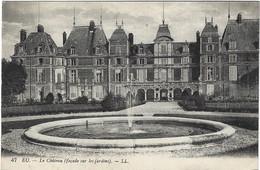 76  Eu  -  Le Chateau D'eu Facade Sur Les Jardins - Eu