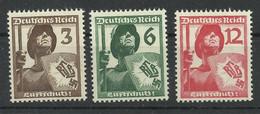 Deutsches Reich 643/645 ** - Unused Stamps
