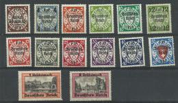 Deutsches Reich 716/729 **/* - Ungebraucht