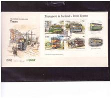 "471  -     EIRE  -  4.3.1987 /    FDC ""  TRAMS IN IRELAND  "" - MICHEL NR. 615/618 + BL. 6 - Tramways"