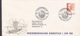 Denmark Sonderstempel 'Købstad I 300 År' FREDERIKSSUND 1965 Cover Brief Viking Wiking Ship Carl Nielsen (Cz. Slania) - Brieven En Documenten