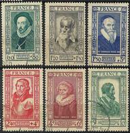 FRANCE Célébrités 1943: Les Y&T 587-592, B Obl. CAD - Gebraucht
