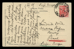 TREASURE HUNT [03151] Peru 1909 Picture Post Card (Lima) Sent From Callao To Basel, Switzerland Bearing Pizzaro 4c - Peru