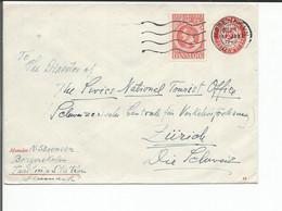 Danemark, Lettre Entier Postal + Timbre, Copenhague - Zürich Suisse (11.1.1946) - Postwaardestukken