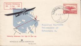 Denmark KONGELIG DANSK AEROKLUB Ellehammer Memorial Flight VORDINGBORG 1956 Cover Brief ELLEHAMMER Flight 1906 Stamp - Brieven En Documenten