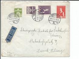 Danemark, Lettre Par Avion Censure, Copenhage - Zürich Suisse (28.3.1941) - Brieven En Documenten