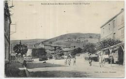 D 42.  SAINT ALBAN LES EAUX.  PLACE DE L EGLISE AN 1920. - Autres Communes