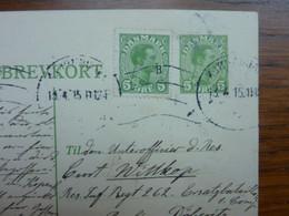 1915   BREVKORT  KOPENHAGEN  PERFECT - Brieven En Documenten