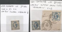 C15 Matraire Effigie Del Re : Lotto 9 Pezzi */us Con Varietà Riporto Ritocco 3puntini  C Chiusa  I Accentata Serpentello - Collections