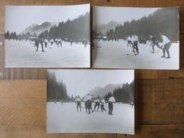 HOCKEY SUR GLACE 1910 KESTER & CO MUNCHEN - FONDS VICTOR FORBIN 1864-1947 SPORT PHOTO VINTAGE MUNICH - Sports