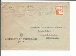 Palestine, Lettre Jaffa - Zürich Suisse (3.8.1935) - Palestina