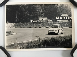 PHOTO ORIGINALE   FIAT ABARTH ANNÉE 60/70 AUTO RACE SPA  FRANCORCHAMPS  (12,5 X 9 Cm ) - Cars