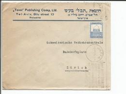 Palestine, Lettre Jaffa - Zürich Suisse (2.8.1935) - Palestina