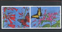 Turks Und Caicos MiNr. Block 167-68 Postfrisch Schmetterling (Schm1242 - Turks- En Caicoseilanden