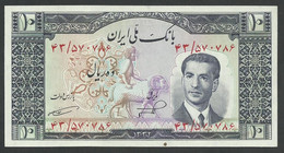 IRAN. 10 RIALS. ND(1953). SHAH PALAVI TYPE Iii. Pick 59. UNC / NEUF - Iran
