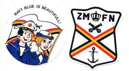 Sticker  Autocollant  2 Stuks/pcs ZM FN Marine Navy - Non Classificati