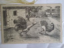 Coq Represente Par Un Penis , Pousuivant Une Poule - Dressed Animals
