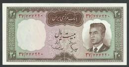 IRAN. 20 RIALS. ND(1965). SHAH PALAVI TYPE VI. Pick 78b. SIGN.10. UNC / NEUF - Iran