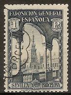 España U 0444 (o) Expo Sevilla Y Barcelona. 1929 - Oblitérés