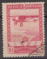 España U 0449 (o) Expo Sevilla Y Barcelona Aereo. 1929 - Oblitérés