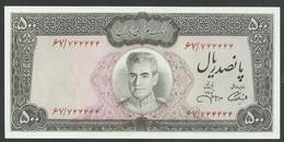 IRAN. 500 RIALS. ND(1971). SHAH PALAVI TYPE VII. Pick 93c. SIGN.13. UNC / NEUF - Iran
