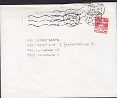 Denmark TANDLÆGE (Dentist Zahnarzt) KNUD RASMUSSEN, AALBORG 1973 Cover Brief DANSLE LLOYD Insurrance København V. - Brieven En Documenten