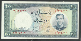 IRAN. 200 RIALS. ND(1958). SHAH PALAVI TYPE V. Pick 70. SIGN.6. UNC / NEUF - Iran