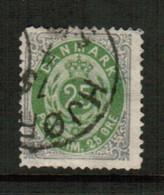 DENMARK  Scott # 32 USED FAULTS (Stamp Scan # 791) - Gebruikt