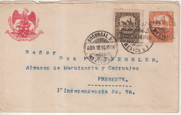 """MEXIQUE  : ENTIER POSTAL . AVEC COMPlt D'AFFRt  . """" MEXICO """" . SERVICE INTERIEUR . 1898 . - Messico"""