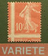 R1311/742 - 1907 - TYPE SEMEUSE CAMEE - N°138 NEUF** - SUPERBE +++ VARIETE ➤➤➤ Piquage En Croix - Varieties: 1900-20 Mint/hinged