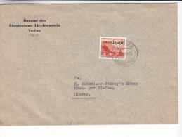 Liechtensterin - Lettre De Service De 1950 ° - - Briefe U. Dokumente
