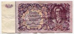 RC 21322 AUTRICHE BILLET DE 50 SHILLINGS EMIS EN 1951 - Austria
